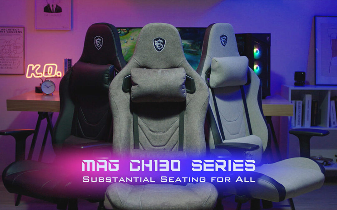 MSI presenta sus sillas gaming MAG CH130 Series